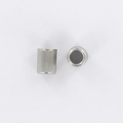Embout de durite acier inoxydable : Lg 18mm - ØExt : 14mm - Øint13.5/9mm
