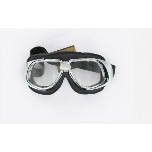 Lunettes Type Aviateur - Noir / Chromé