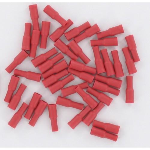 Sachet de 50 Fiche femelle ronde isolée 0,5-1,5mm² fiche D4