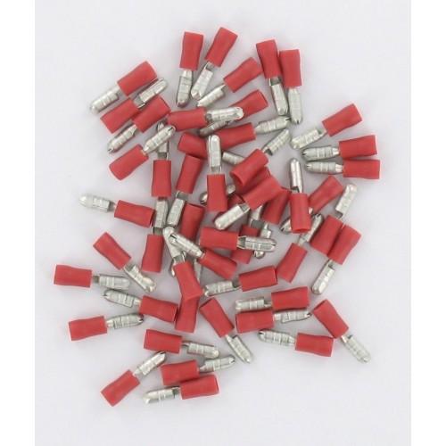 Sachet de 50 Fiche mâme ronde isolée 0,5-1,5mm² fiche D4