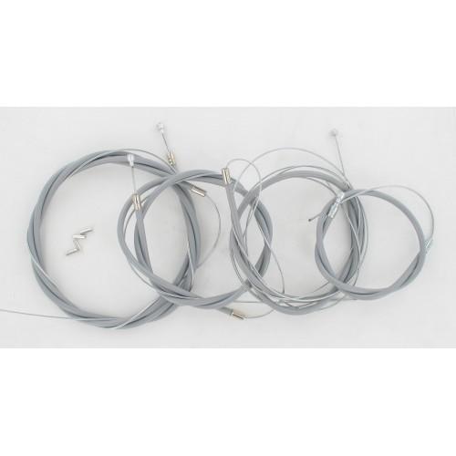 Kit câbles complet Gaine Grise Solex 5000 3800 Hongrois