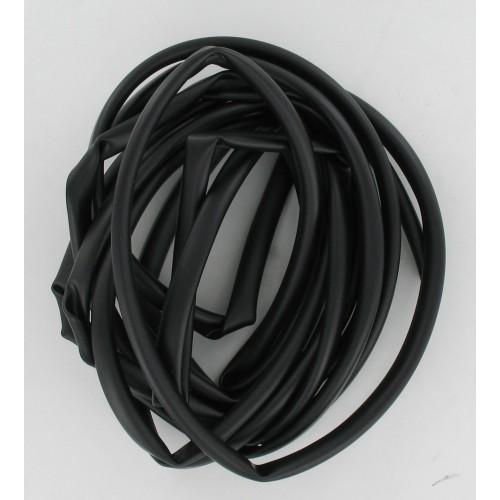Rouleau de 5 mètres de gaine / faisceau électrique Noir 8 x 9