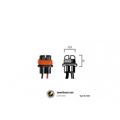 Fiche ampoule H8-H9-H11 avec câbles Flosser (9448)