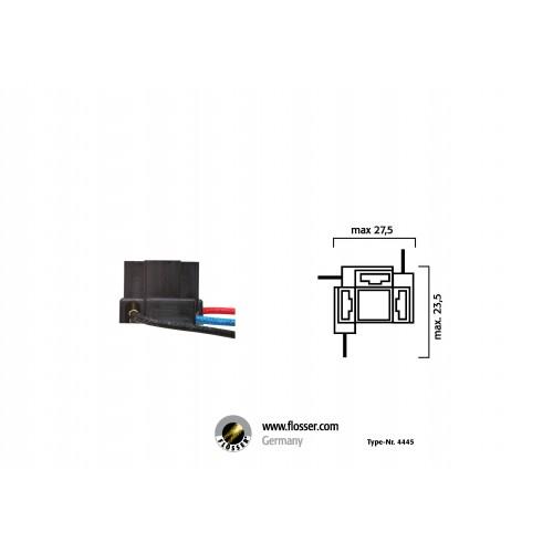Fiche ampoules H4 avec câble Flosser (4445)