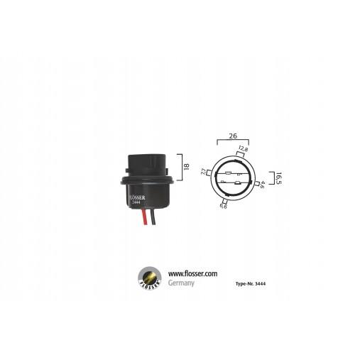 Fiche ampoule culot W2,5x16d Flosser (3444)