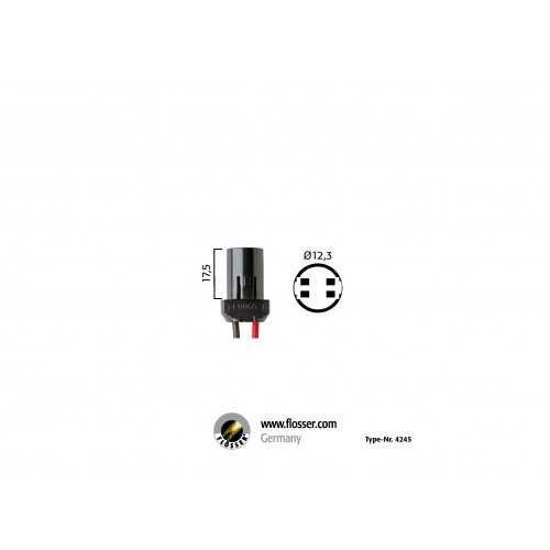 Fiche ampoule culot W2,1x9,5d Flosser (4245)