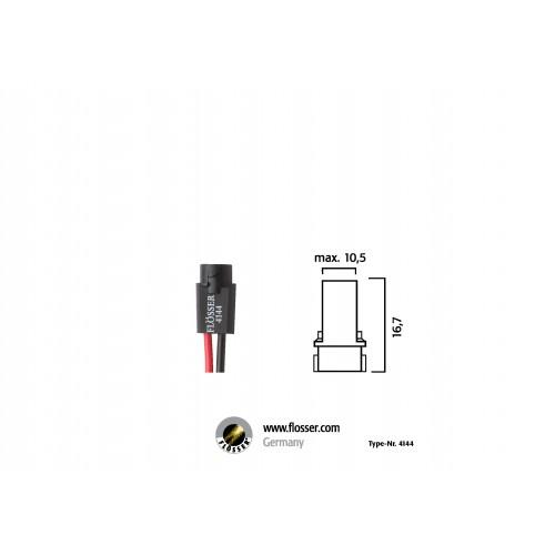 Fiche ampoule culot W2x4,6d Flosser (4144)