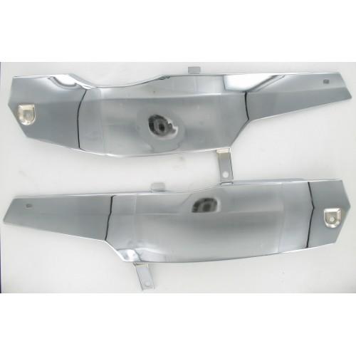 Paire de Capotages latéraux acier chromé MBK 51