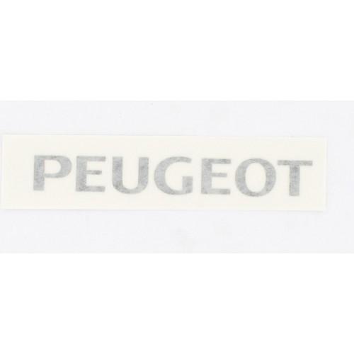 Autocollant transfert Noir Peugeot type origine selle (150x19)