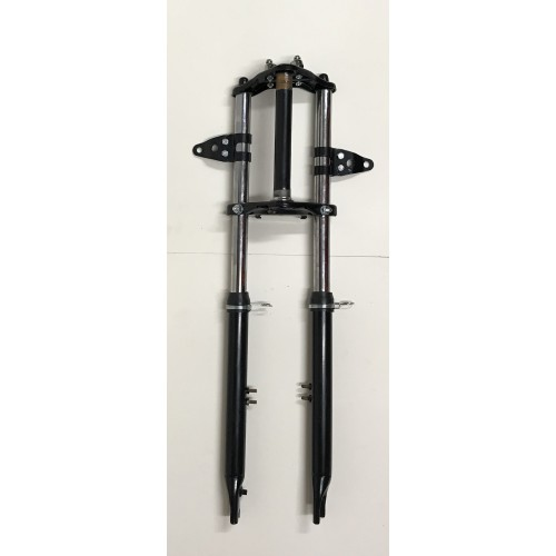 Fourche telescopique Noire Peugeot 103 SP TSA - Eco (fixation GB avec pont ou GB seul)