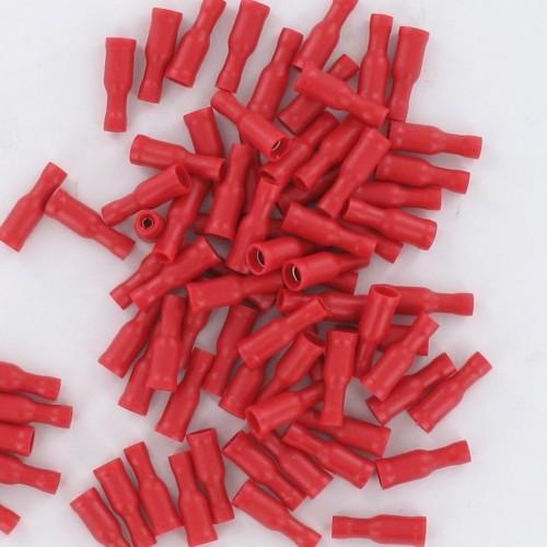 Sachet de 100 cosses pré-isolée femelle D4 section de fil 0.25 à 1.5mm2