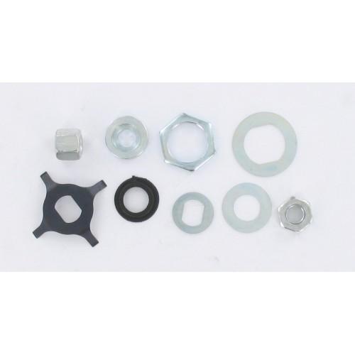 Kit écrou + rondelle + ressort (8 pièces) embrayage / variateur Peugeot 103