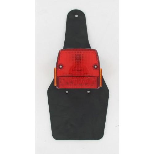 Feu rouge arrière avec catadioptres et bavette souple Peugeot 103 SP SPX