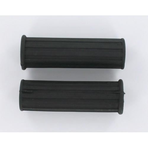Paire de revêtements de poignées Noires CLB 110mm D22/26 Peugeot 103 1er modèle