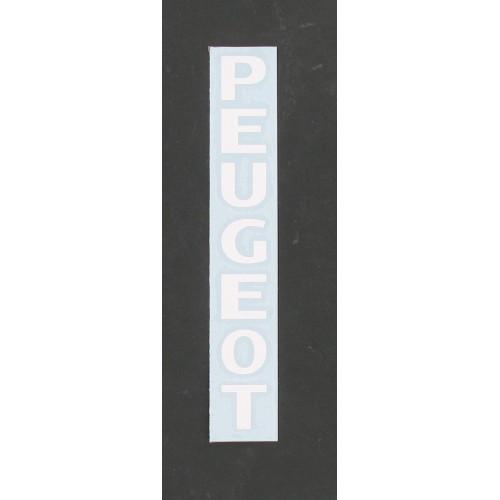 Autocollant transfert de fourche Peugeot Blanc