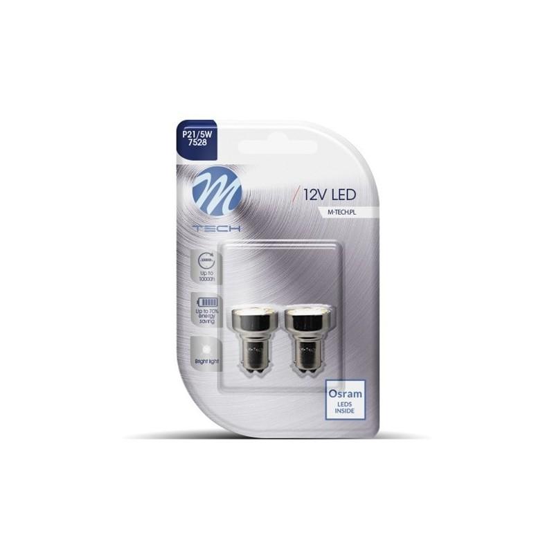BaY15d – P21/5W – 12V – 24x Led Flux 5mm – P: 1.20W – Blanc