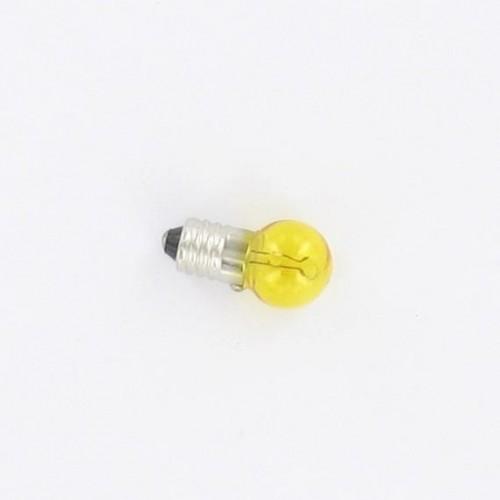 Ampoule E10 12V 6W Jaune à visser