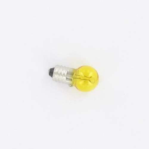 Ampoule E10 6V 6W Jaune à visser
