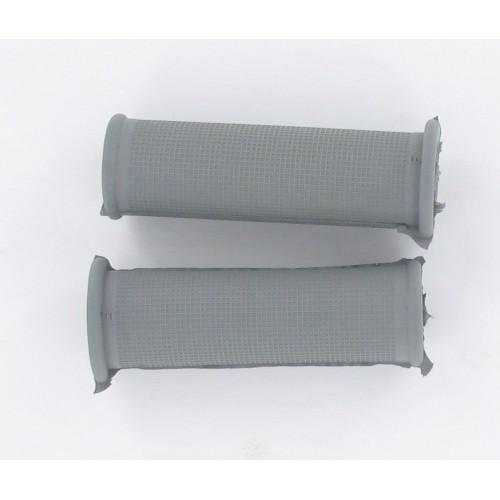 Paire de revêtements de poignées Grises Standard 100mm D22/25 Peugeot MBK