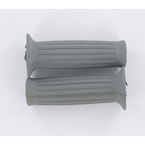 Paire de revêtements de poignées Grises 105mm D22/25 MBK Peugeot Testi Malaguti