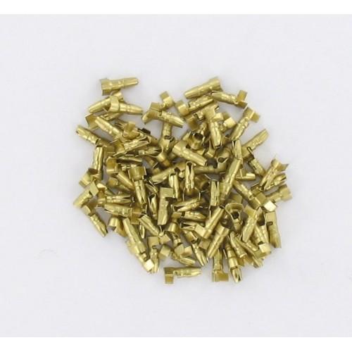Sachet de 100 cosses cylindriques mâles D4 fil 1.00 à 2.50mm²