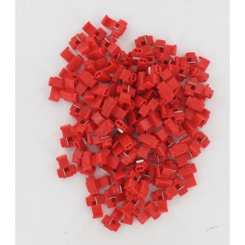 Sachet de 100 bornes de dérivation / connecteurs Rouge 0.5 à 0.80mm²