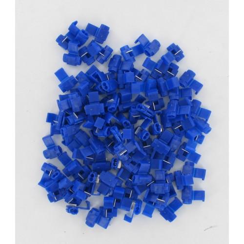 Sachet de 100 bornes de dérivation / connecteurs Bleu 1.00 à 2.50mm²