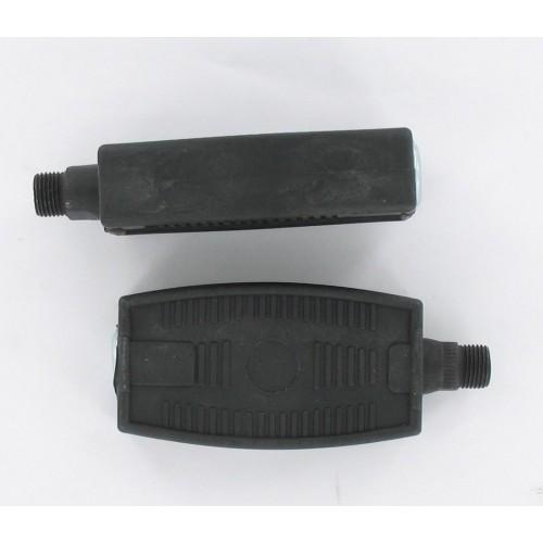 Pédales plastiques noires 14x125 Peugeot 103 MBK 40 50 51 Solex (type Atom)