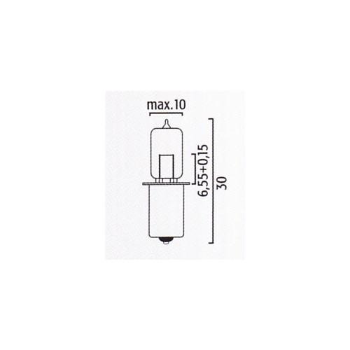 Lampe halogène HS3  PX13.5s 6V 2,4W