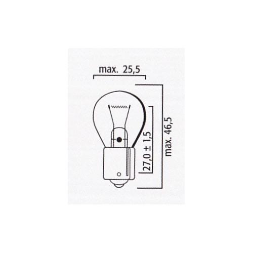 Lampe stop et clignotant 12V 15W BA15s