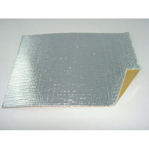 Plaque Isolante Adhésive en Tissu de Verre / Aluminium - 200 *150 mm